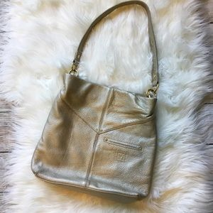 Stone Mountain Leather Gold Shoulder Purse